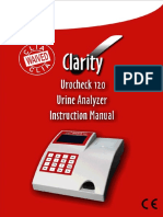 Clarity Urocheck 120 Urine Analyzer - Manual