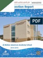 KHDA Al Mizhar American Academy School 2014 2015