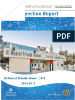 KHDA Al Maaref Private School LLC 2014 2015