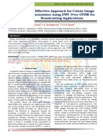 An Effective Approach for Colour Image Transmission using DWT Over OFDM for Broadcasting Applications