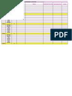 Tabela - Cronograma de Estudos