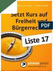 Piratenpartei - Grosser Rat Bern 2010 - Plakate A3