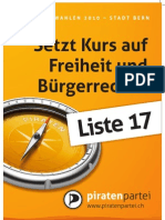 Piratenpartei - Grosser Rat Bern 2010 - Plakate A3