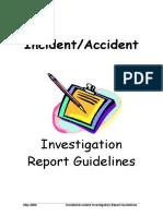 Investigation Guidelines