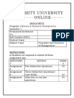 Ppm Amity Solved Assignment