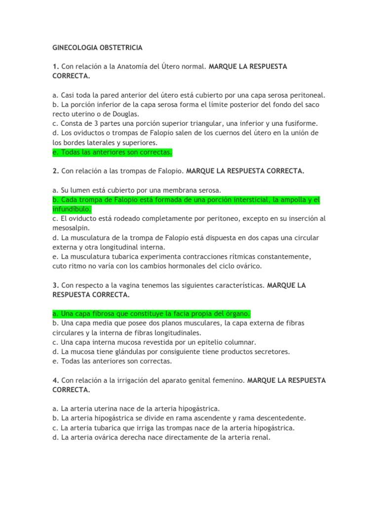 Preguntas Ginecologia Obstetricia Placenta El Embarazo