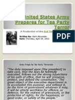 United States Army Prepares for Tea Party Terror