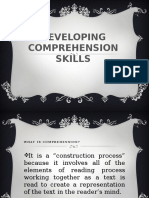 Developing Comprehension Skills