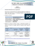 Taller 1 Documentacion ISO 9001 2008
