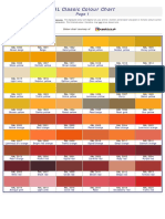 RAL Colour Chart for paint