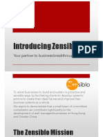 Zensiblo Service Introduction