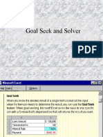 7 Goal Seek and Solver