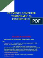 Examenul Computer Tomografic Al Pancreasului Final