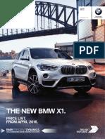 BMW X1 Price List April 16