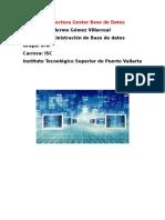 Informe Gestor Base de Datos