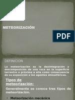 4.- Meteorización - interperismo