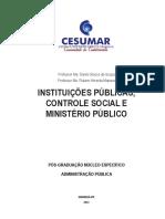 INSTITUIÇÕES PÚBLICAS, CONTROLE SOCIAL E MINISTÉRIO PÚBLICO