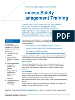 Process Safety Training Brochure and Schedule 2016