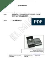 Elmic Kdb301 en Manual 1.0.1