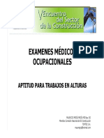 Examenes Medicos Trabajo Alturas