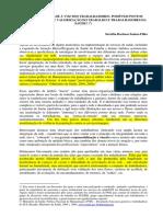 SANTOS-FILHO, S.B. Dando Visibilidade à Voz Dos Trabalhadores Da Saúde