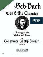 Bach 10 Piezas Fáciles Para Violin y Piano