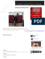 Building Functional Muscle for Muay Thai – Part 2