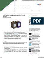 Tips cara isi ulang tinta cartridge printer (refill) ~ Printer