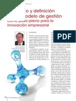 Desarrollo y Definición de Un Modelo de Gestión Como Paso Previo Para La Innovación Empresarial
