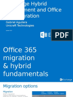 Exchange Hybrid Deployment and Office 365 Migration