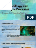 Electrolytic and Hydrometallurgical Processes