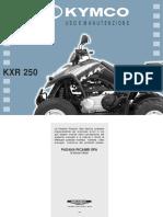 KYMCO kxr250 manual de usuario