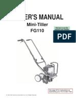 Mini-Tiller Owner's Manual