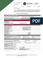 EUDE Formulario de Admisión y Beca2015-2016