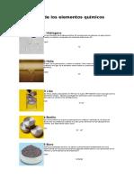 Fotos de Los Elementos Químicos (Tabla Periodica)