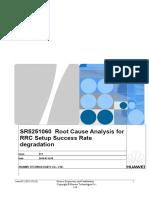 SR5251060 Root Cause Analysis for RRC Setup Success Rate Degradation