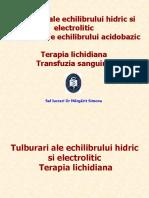 Tulburari Ale Echilibrului Hidroelectrolitic Si Acidobazic Cu