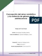 Concepcion Del Amor Romantico y La Violencia de Genero en La Adolescencia
