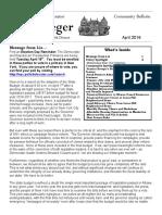 Senator Krueger's Community Bulletin - April 2016