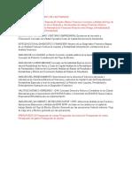 Fundamentación y Marco de Las Finanzas