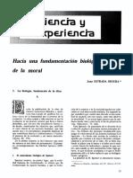 SEGURA, Juan - Hacia Una Fundamentación Biológíca de La Moral