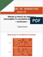 Curs 10 - Cercetări de Marketing