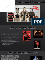 slasher films codes and conventions