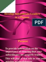Develops Subordinate Lead