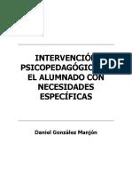 Intervención Psicopedagógica en El Alumnado Con Necesidades Específicas