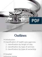 Classification of Health Care Organizations
