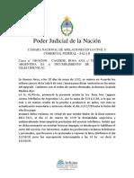 Caggese Rosa Ana c Telefonica de Argentinas