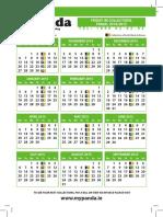 Panda Calendar 2015
