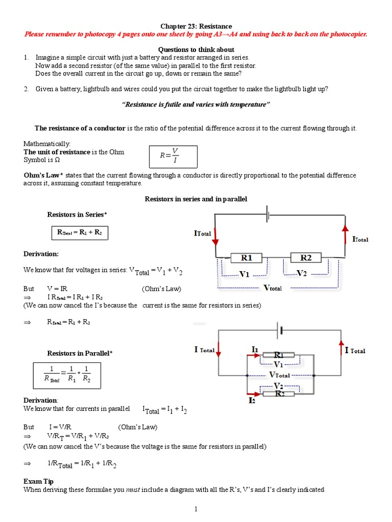 23 Resistance Series And Parallel Circuits Electrical Circuit With Lightbulbs Battery Conductance