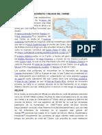 Geografía y Relieve Del Caribe